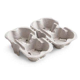 Porta bicchieri cm18,5X22,5 in polpa di carta riciclata 4 posti divisibile