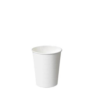 Bicchiere di cartoncino bio bianco 4oz ml 125