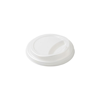 Coperchio con beccuccio in cpla per bicchiere di cartoncino bio ml 240