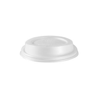 Coperchio con beccuccio in cpla per  bicchiere di cartoncino bio ml 350/470