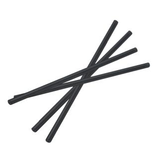 Cannuccia in APINAT bio nera nuda diametro mm 7 altezza cm 21