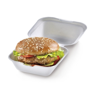Box burger small con coperchio in polpa di cellulosa cm 12x12x6,8
