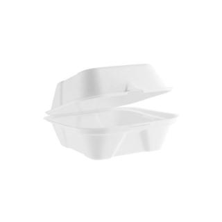 Contenitore con coperchio in polpa di cellulosa cm 15,2 x 14,8x7,8 ml 450
