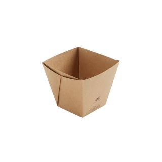 Scatola avana in cartonciono laminato in PLA cm 11,3x11,3x10