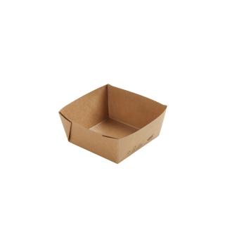 Scatola avana in cartonciono  laminato in PLA cm 11,3x11,3x5