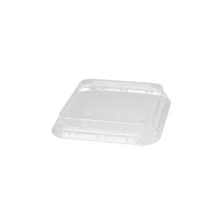 Coperchio trasparente cm 16,5x16,5x2,8 per contenitore in polpa d cellulosa ml 900