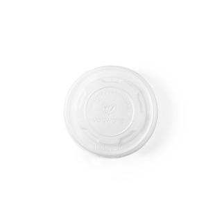 Coperchio piatto CPLA  per contenitore di cartoncino bio per zuppa 6/8/10 oz