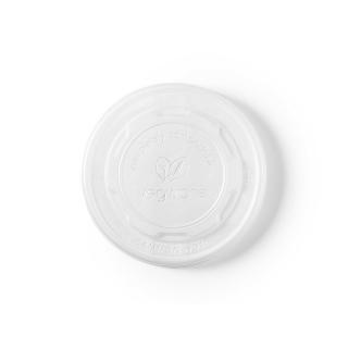Coperchio piatto CPLA  per contenitore di cartoncino bio per zuppa 12/16/24 oz