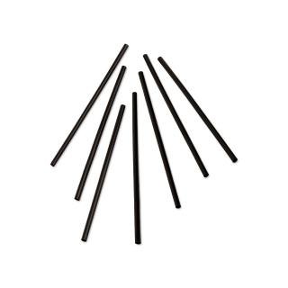 Cannuccia nera nuda diametro mm 7 altezza cm 21