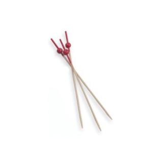 Spiedino boule rouge in bamboo cm 12