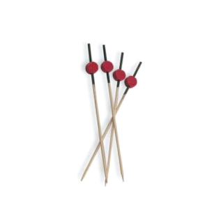 Spiedino rosso e nero in bamboo cm 12