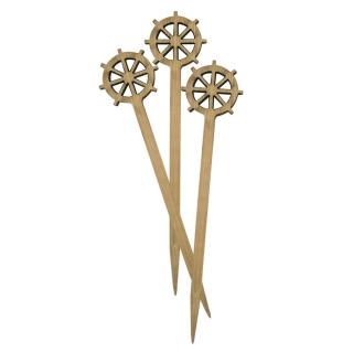 Spiedino timone in bamboo cm 9