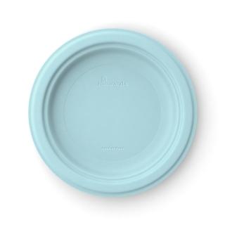 Piatto  piano in polpa di cellulosa Ø cm 23  azzurro aquamarina