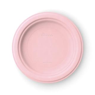 Piatto  piano in polpa di cellulosa Ø cm 23  rosa peonia