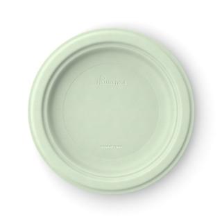 Piatto  piano in polpa di cellulosa Ø cm 23 verde pistacchio