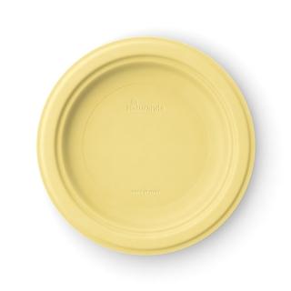 Piatto  piano in polpa di cellulosa Ø cm 23  giallo limone