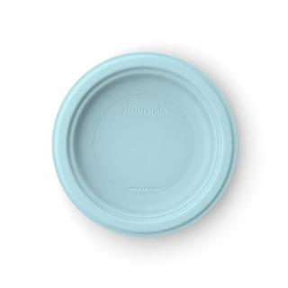 Piatto  piano in polpa di cellulosa Ø cm 18  azzurro aquamarina