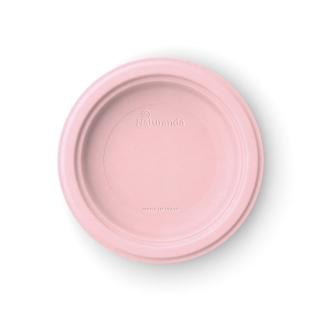 Piatto  piano in polpa di cellulosa Ø cm 18  rosa peonia