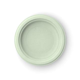 Piatto  piano in polpa di cellulosa Ø cm 18  verde pistacchio