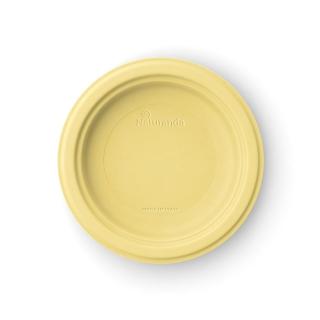 Piatto  piano in polpa di cellulosa Ø cm 18 giallo limone