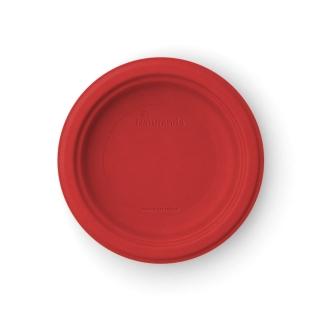 Piatto  piano in polpa di cellulosa Ø cm 18 rosso