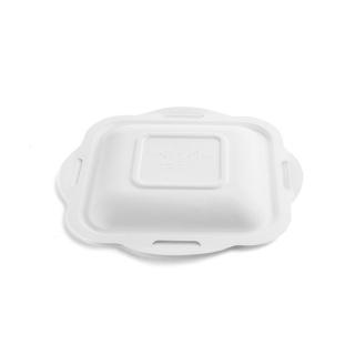 Coperchio in polpa di cellulosa biodegradabile e compostabile cm 22,5x21 per vaschetta cod 90445/90446/90447