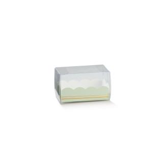 Astuccio con vaschetta Elegance verde cm 8x5x5