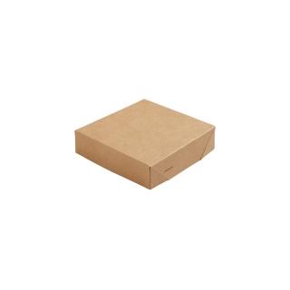 Coperchio in cartoncino avana  lamianto in PLA cm 11,3x11,3x2,9 per scatola cm 11,3x11,3