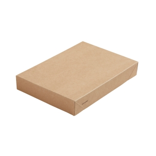 Coperchio in cartoncino avana+PLA cm 20x14x3 per scatola avana  cm 20x14x4,5