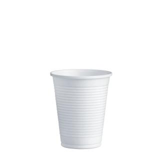 Bicchiere plastica bianca cc 200