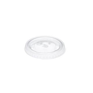 Coperchio piatto taglio croce in Pet per bicchiere cc 250