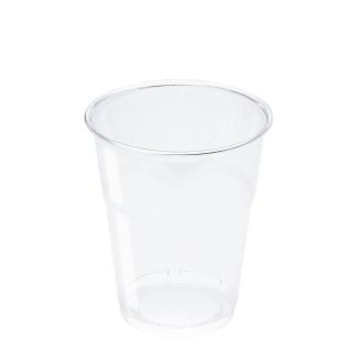 Bicchiere in Pet trasparente cc 350 tacca 300