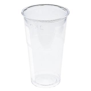 Bicchiere in Pet trasparente cc 500 tacca 400