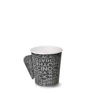 Bicchiere caffè in cartoncino politenato con manico 4oz 100 ml