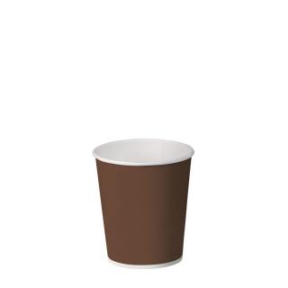 Bicchiere caffè brown in cartoncino politenato 4oz 100 ml