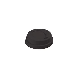 Coperchio nero con beccucio per bicchiere caffè 4oz