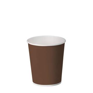Bicchiere cappuccino brown in cartoncino politenato 6oz 180 ml