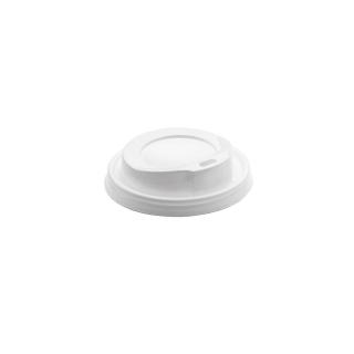 Coperchio bianco con beccucio per bicchiere caffè 6oz