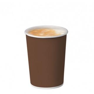 Bicchiere bevanda calda brown in cartoncino politenato 9oz 270 ml