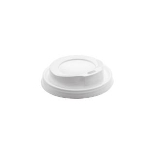 Coperchio bianco con beccucio per bicchiere bevanda calda 9oz