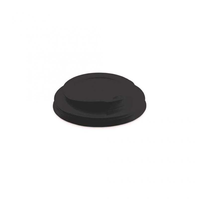 Coperchio nero con beccucio per bicchiere caffè 9oz