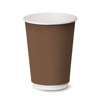 Bicch. bevanda calda cartoncino polit. 12oz brown ml 360