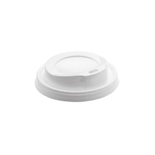 Coperchio bianco con beccucio per bicchiere bevanda calda 12oz
