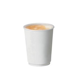 Bicchiere double wall bianco in cartoncino politenato 9oz 270 ml