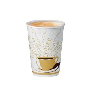 Bicchiere double wall in cartoncino politenato 12oz 360 ml