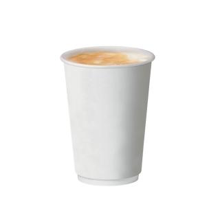 Bicchiere double wall bianco in cartoncino politenato 12oz 360 ml
