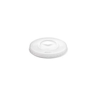 Coperchio semitrasparente piatto con taglio croce per bicchiere ml 350