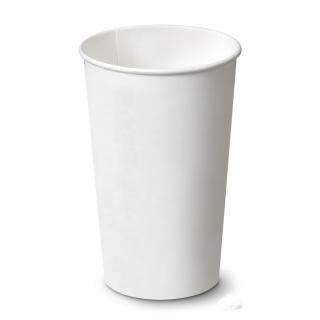 Bicchiere di cartoncino bianco ml 550 tacca ml 500