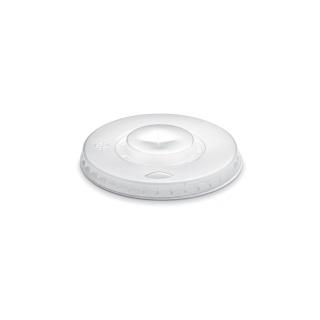Coperchio semitrasparente piatto con taglio croce per bicchiere ml 550