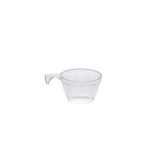 Tazza caffè trasparente con manico